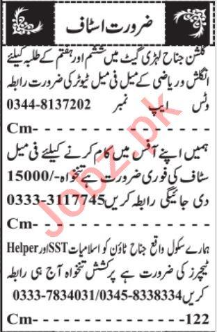 Admin Manager & Civil Supervisor Jobs 2021 in Quetta