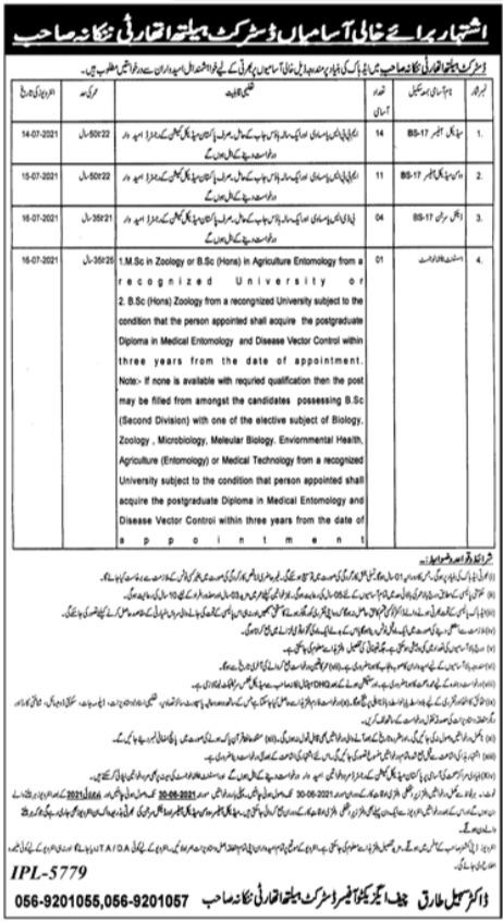 District Health Authority Nankana Sahib Jobs 2021