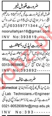 Flour Mil Manager & Lady Receptionist Jobs 2021 in Peshawar