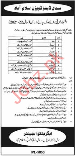 Small Dams Division Islamabad Jobs 2021 for Beldar & Coolie