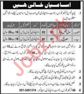 Pak Army 46 Frontier Force Regiment Rawalpindi Jobs 2021