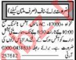 Marketing Officer & Sales Officer Jobs 2021 in Multan