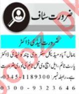 Lady Doctor & Pharmacist Jobs 2021 in Peshawar