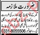 House Staff Jobs Career Opportunity in Peshawar 2021