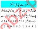 Lady Doctor & Medical Officer Jobs 2021 in Peshawar