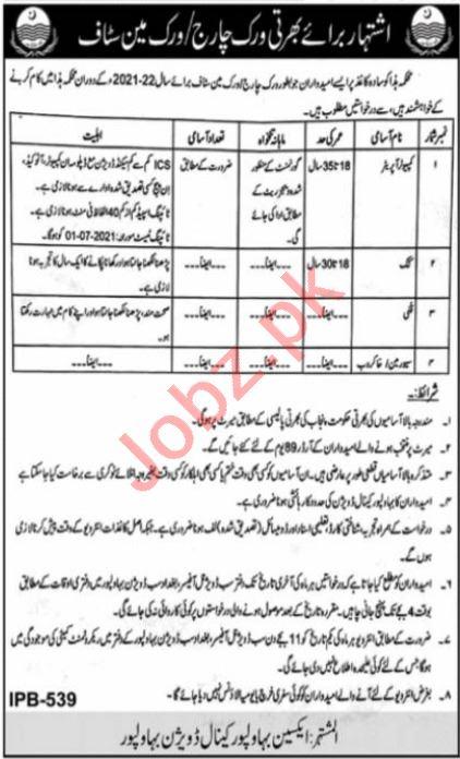 Irrigation Department Bahawalpur Canal Division Jobs 2021