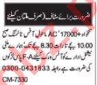 Civil Supervisor & Promotion Officer Jobs 2021 in Multan