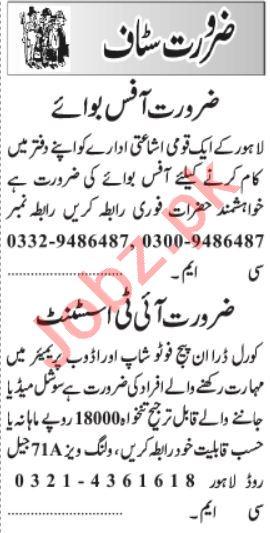 Graphic Designer & Computer Programmer Jobs 2021 in Lahore