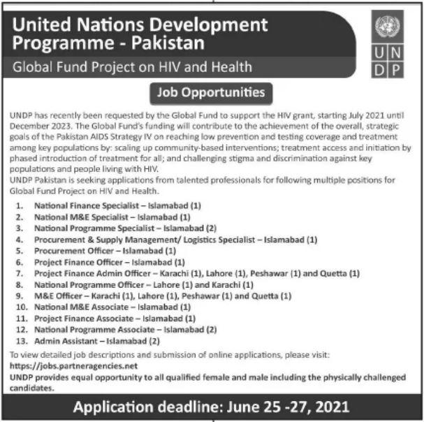 United Nations Development Programme Islamabad Jobs 2021