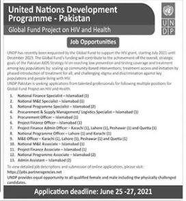 United nations Development Programme UNDP Jobs