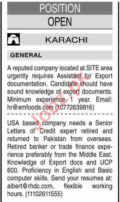 Credit Expert & Business Analyst Jobs 2021 in Karachi