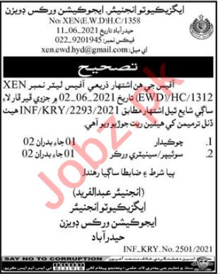 Education Works Division Hyderabad Jobs 2021 for Sweeper