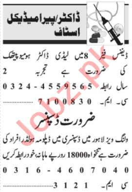 Lady Doctor & Medical Officer Jobs 2021 in Lahore