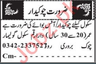 Watchman & Chowkidar Jobs 2021 in Quetta