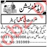 Computer Operator & Call Operator Jobs 2021 in Peshawar