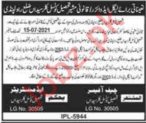 Tehsil Council Kallar Syedan Jobs 2021 for Lawyer