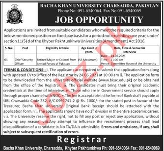 Chief Security Officer Jobs in Charsadda KPK