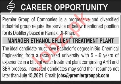 Premier Group Of Companies DI Khan KP Jobs 2021