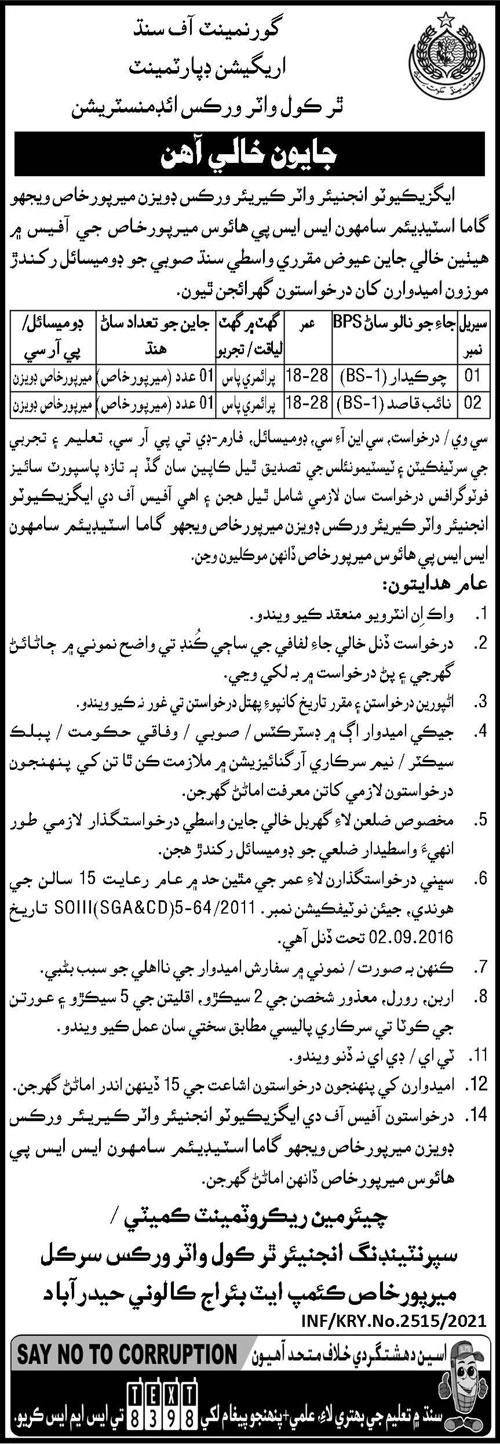 Chowkidar Naib Qasid Jobs in Hyderabad