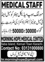 Morning Hope Medical Center Medical Staff Jobs 2021