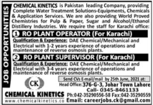 Chemical Kinetics Company Technical Staff Jobs 2021