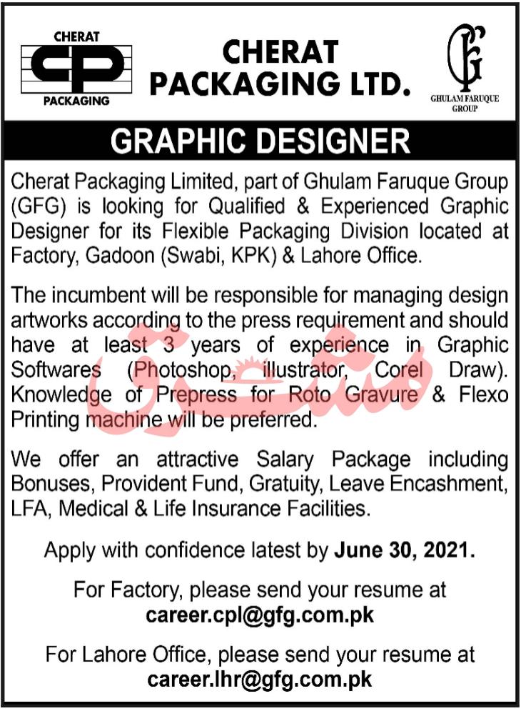 Cherat Packaging Limited CPL Swabi KP Jobs 2021