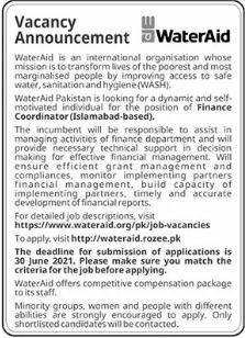 WaterAid Pakistan Jobs 2021