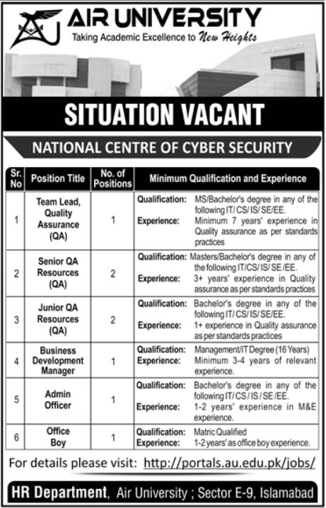 National Center for Cyber Security Management Jobs 2021