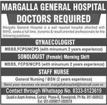 Margalla General Hospital Jobs 2021