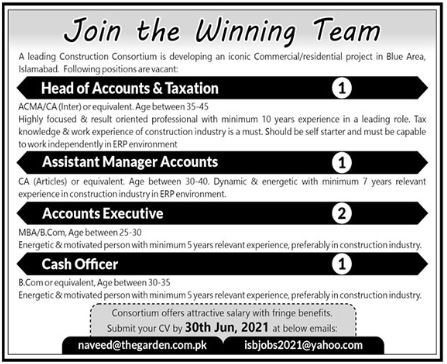 Real Estate Company Jobs 2021 in Islamabad