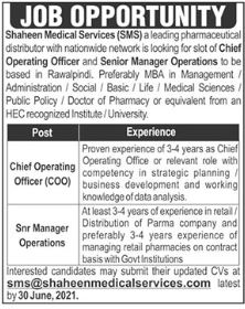 Shaheen Medical Services SMS Jobs 2021