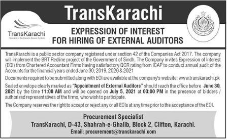 TransKarachi Jobs 2021 in Karachi