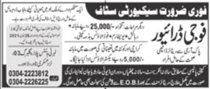 Security Staff and Driver Jobs 2021