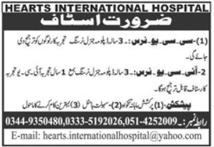 Narsing Staff Jobs in Islamabad