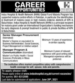 Indus Hospital Jobs in Islamabad