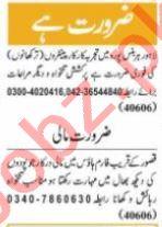 Nawaiwaqt Sunday Classified Ads 20 June 2021 Multiple Staff