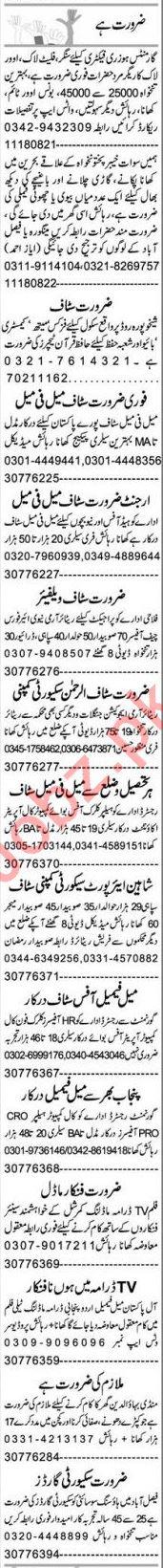 Express Sunday Faisalabad Classified Ads 20 June 2021