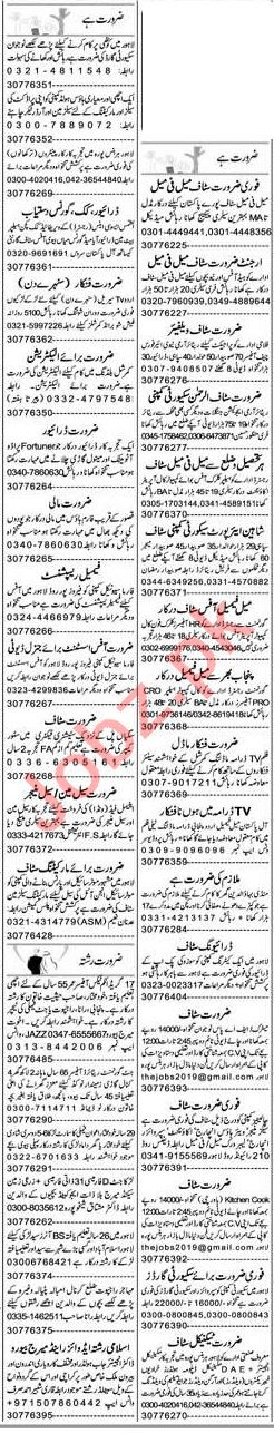 Express Sunday Lahore Classified Ads 20 June 2021