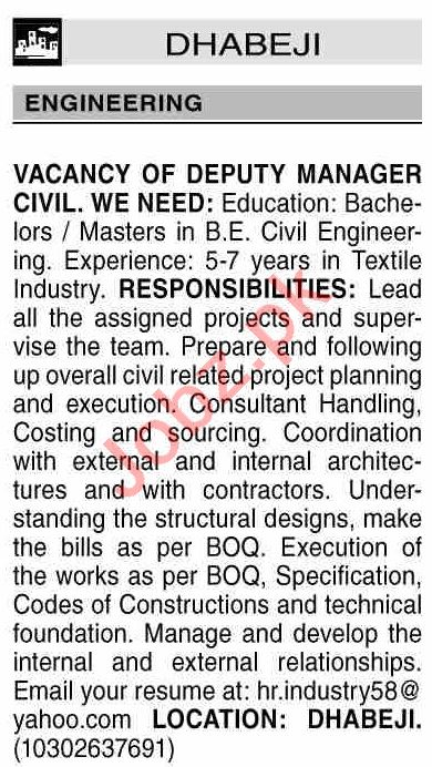 Dawn Sunday Classified Ads 20 June 2021 Engineering Staff