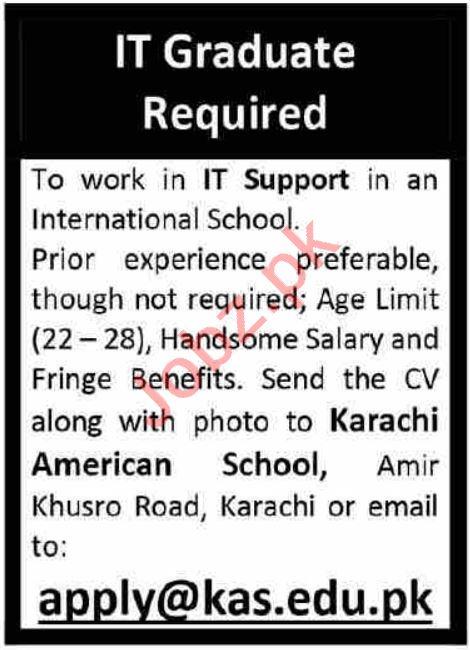 Karachi American School KAS Karachi Jobs 2021 IT Graduate