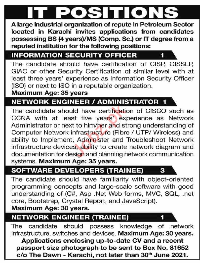 Information Security Officer & Network Engineer Jobs 2021