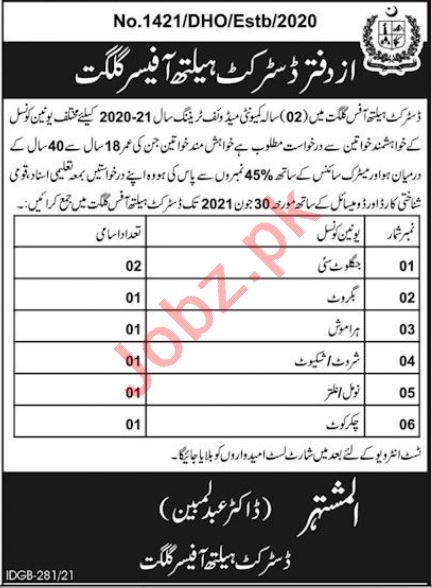 District Health Office DHO Gilgit Jobs 2021 for CMWs