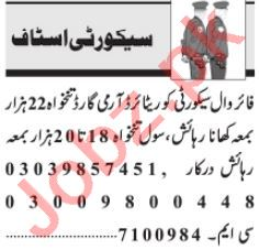 security Executive & Security Incharge Jobs 2021 in Lahore