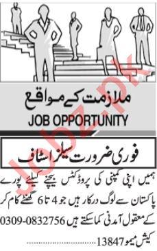 Sales Officer & Sales Representative Jobs 2021 in Karachi