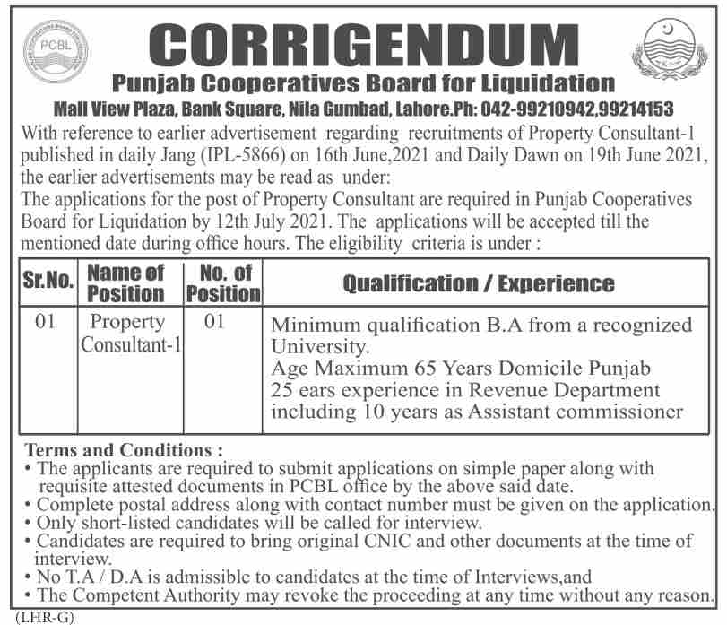Property Consultant Jobs in Lahore