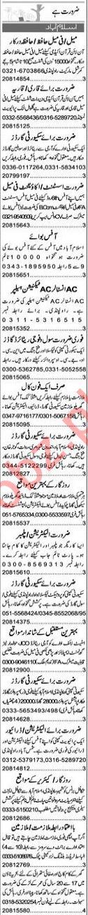 Garments Manager & Quran Teacher Jobs 2021 in Islamabad