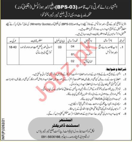 Local Government & Rural Development Khyber Jobs 2021