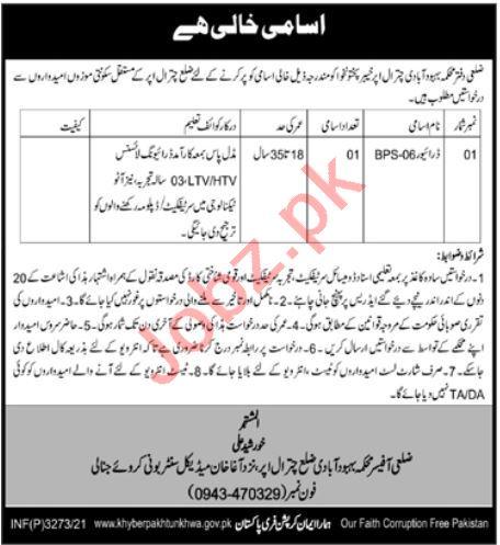 Population Welfare Department PWD Chitral Upper Jobs 2021