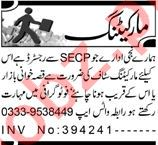 Marketing Graduate & Sales Executive Jobs 2021 in Lahore