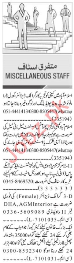 Graphic Designer & Software Engineer Jobs 2021 in Islamabad